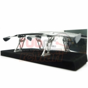 SLIDELOGY, SDY-0056 CARBON PATTERN REAR SPOILER W/STANDS TYPE F FOR 1/10 DRIFT