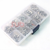 YEAH RACING, SSS-400 STAINLESS STEEL SCREW ASSORTED SET 400PCS WITH FREE MINI BOX