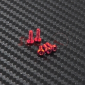 ATOMIC, TS-137-R ALU 7075 BUTTON HEAD TAPPING SCREW 2X6MM PB RED