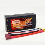 VANTBATTERY, VANT4600 4MM BULLET LIPO BATTERY 4600MAH 100C 2S 7.6VHV