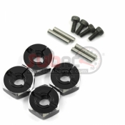 YEAH RACING, WA-033BK ALUMINIUM HEX ADAPTOR SET 12X6MM FOR 1/10 RC