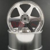 YEAH RACING, WL-0128SV SPEC D PLUS ALUMINIUM 7075 6 SPOKE +6 OFFSET 2PCS