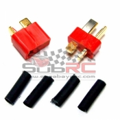 YEAH RACING, WPT-0003RD ULTRA T-PLUG BATTERY PLUG