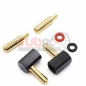 YEAH RACING, WPT-0121 ANGLE TYPE CONNECTOR (4MM & 5MM)