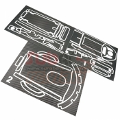 XTRA SPEED, XS-59105 CARBON DESIGN FUTABA 7PX RADIO STICKER BLACK