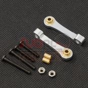 XTRA SPEED, XS-CC25005 ALUMINIUM FRONT UPPER SUSPENSION ARM FOR TAMIYA CC01 SILVER