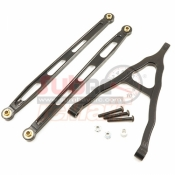 XTRA SPEED, XS-SCX22502BK ALUMINIUM 6061 T6 FRONT CHASSIS LINK PARTS FOR AXIAL SCX10 BLACK
