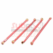 XTRA SPEED, XS-SCX230045RD ALUMINIUM 6061 T6 REAR UPPER & LOWER LINKAGE FOR AXIAL SCX10 II RED