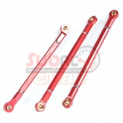 XTRA SPEED, XS-SCX230048RD ALUMINIUM 6061 T6 FRONT UPPER & LOWER LINKAGE FOR AXIAL SCX10 II RED