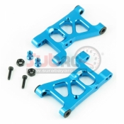 YEAH RACING, XV01-001BU FRONT ARM SET ALUMINIUM BLUE FOR TAMIYA XV01