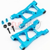 YEAH RACING, XV01-002BU REAR ARM SET ALUMINIUM BLUE FOR TAMIYA XV01