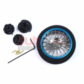 YEAH RACING, YA-0262BU ALUMINIUM TRANSMITTER STEERING WHEEL (BU) 18-SPOKE