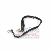 YEAH RACING, YA-0371 1/10 ROCK CRAWLER ACCESSORY NYLON CABLE STRAP W/ BUCKLE & SPRING LOADED HOOK