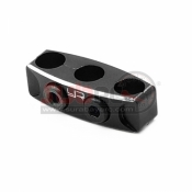 YEAH RACING, YA-0487BK ALUMINIUM CASE 12-14 GAUGE WIRE GUARD CLAMP TYPE B BLACK