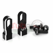 YEAH RACING, YA-0538BK ALUMINIUM SERVO MOUNT FOR 1:10 BLACK