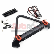 YEAH RACING, YA-0548 ALUMINIUM ALLOY FRONT BUMPER W/LED LIGHT FOR AXIAL SCX 10/II TRAXXAS TRX-4