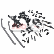 YEAH RACING, YKYD-S03BK ALUMINIUM PERFORMANCE UPGRADE KIT FOR YOKOMO YD2S BLACK