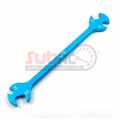 YEAH RACING, YT-0137BU ALUMINIUM TURNBUCKLE WRENCH 3MM 4MM 5MM 5.5MM BLUE